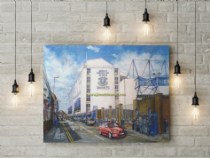 goodison going to the match canvas a2 size